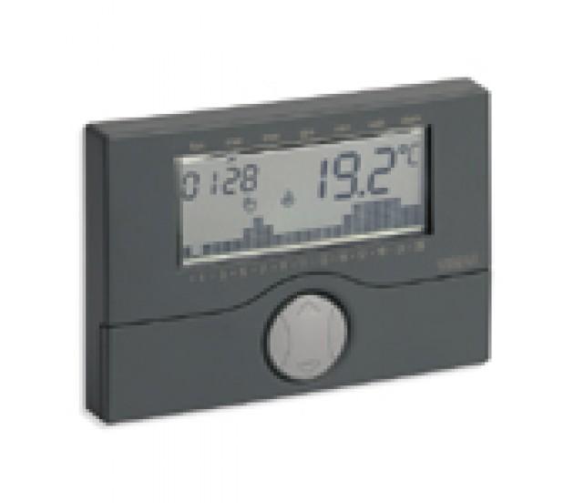 Vimar cronotermostato a batteria da parete antracite for Vimar 01910