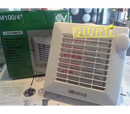 Vortice aspiratore con chiusura automatica dm 100 - Estrattore bagno vortice ...