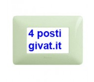 Bticino matix placca 4 posti avorio