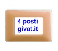 Bticino matix placca 4 posti colors ambra