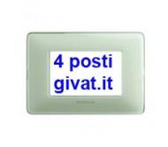 Bticino matix placca 4 posti colors avorio