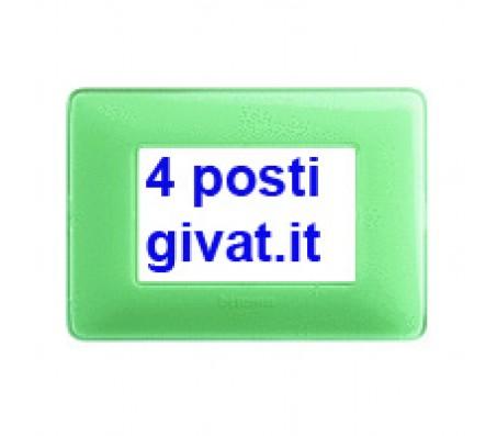 Bticino matix placca 4 posti colors te verde