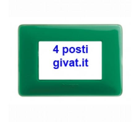 Bticino matix placca 4 posti colors smeraldo