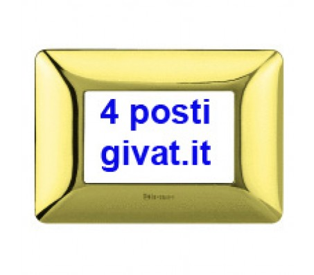 Bticino matix placca 4 posti oro lucido