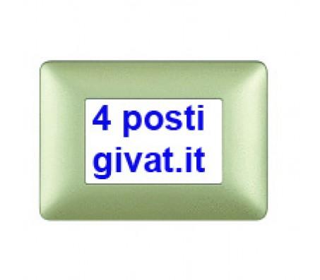 Bticino matix placca 4 posti gold