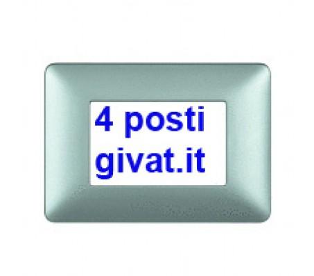 Bticino matix placca 4 posti silver