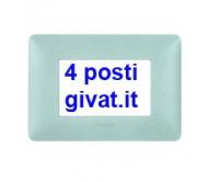 Bticino matix placca 4 posti bianco calce