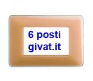 Bticino matix placca 6 posti colors ambra