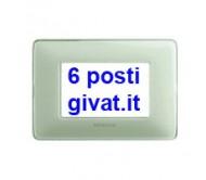 Bticino matix placca 6 posti colors avorio