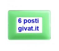 Bticino matix placca 6 posti colors te verde