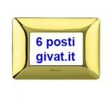 Bticino matix placca 6 posti oro lucido