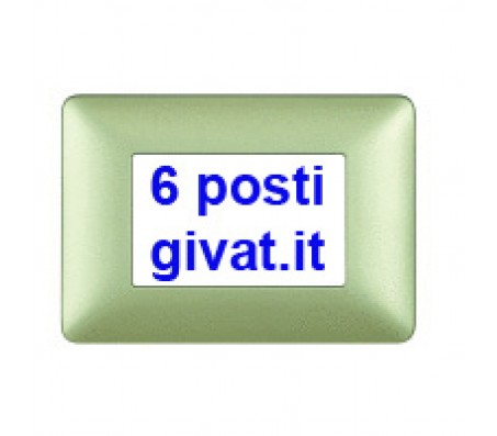 Bticino matix placca 6 posti gold