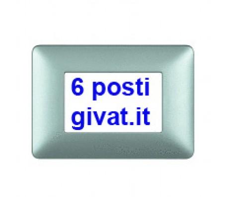 Bticino matix placca 6 posti silver