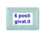Bticino matix placca 6 posti bianco calce