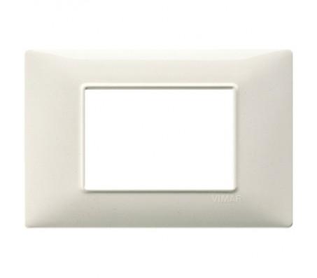 Vimar Plana Placca 3 moduli bianco granito