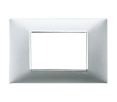Vimar Plana Placca 3 moduli argento opaco