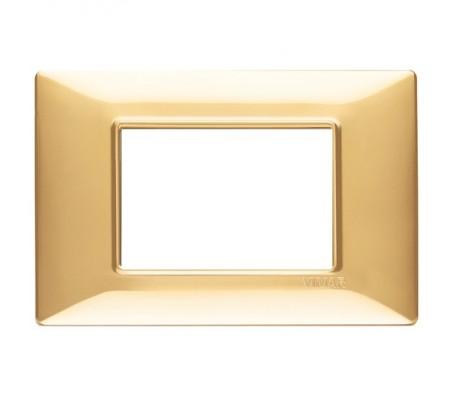 Vimar Plana Placca 3 moduli oro lucido