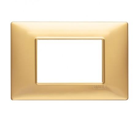 Vimar Plana Placca 3 moduli oro opaco