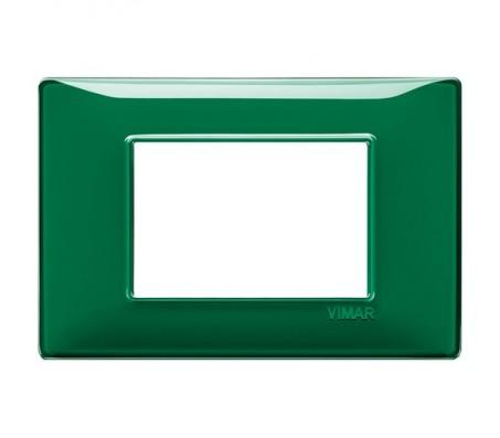 Vimar Plana Placca 3 moduli Reflex smeraldo