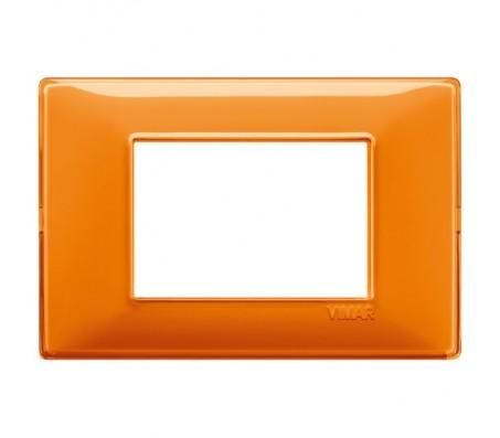 Vimar Plana Placca 3 moduli Reflex arancio