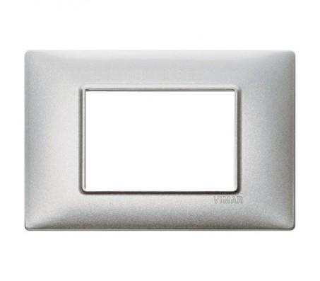 Vimar Plana Placca 3 moduli argento metallizzato