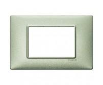 Vimar Plana Placca 3 moduli verde metallizzato