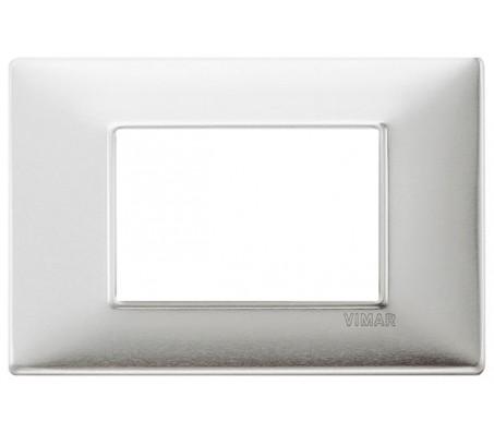 Vimar Plana Placca 3 moduli alluminio spazzolato