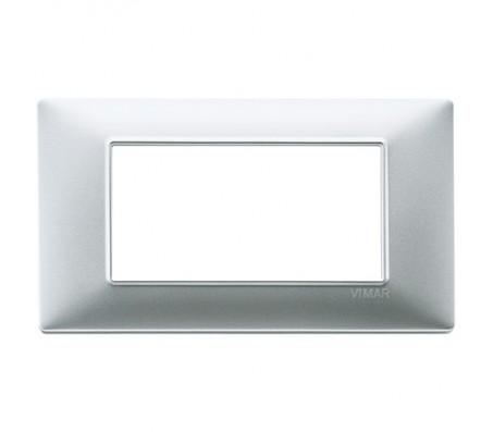 Vimar Plana Placca 4 moduli argento opaco