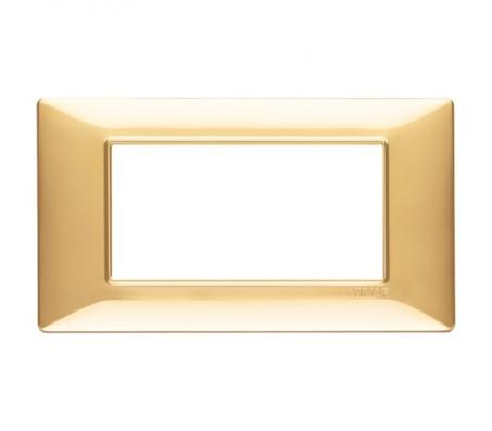 Vimar Plana Placca 4 moduli oro lucido