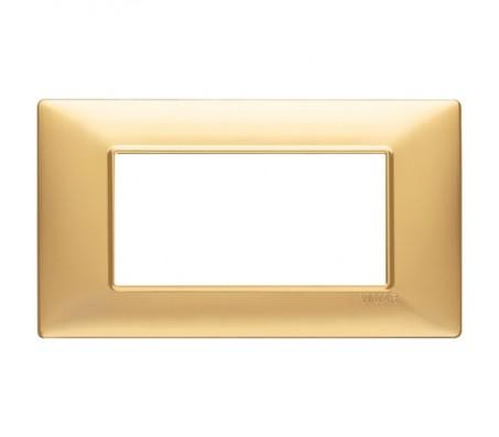 Vimar Plana Placca 4 moduli oro opaco