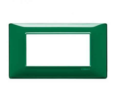 Vimar Plana Placca 4 moduli Reflex smeraldo