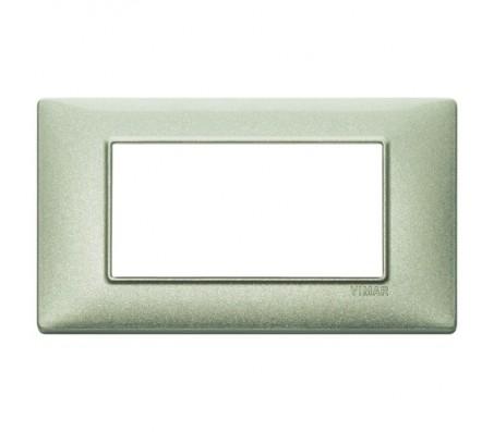 Vimar Plana Placca 4 moduli verde metallizzato