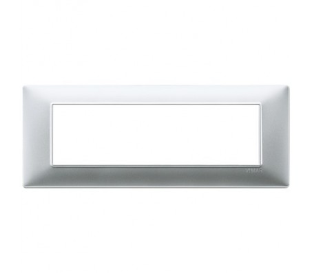 Vimar Plana Placca 7 moduli argento opaco