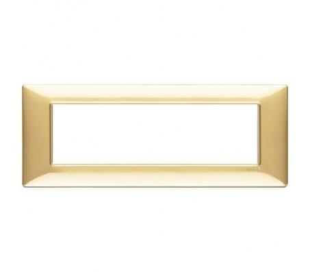 Vimar Plana Placca 7 moduli oro lucido