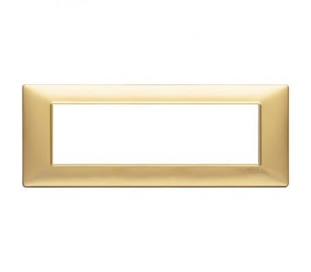 Vimar Plana Placca 7 moduli oro opaco