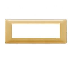 Vimar Plana Placca 7 moduli Reflex ambra