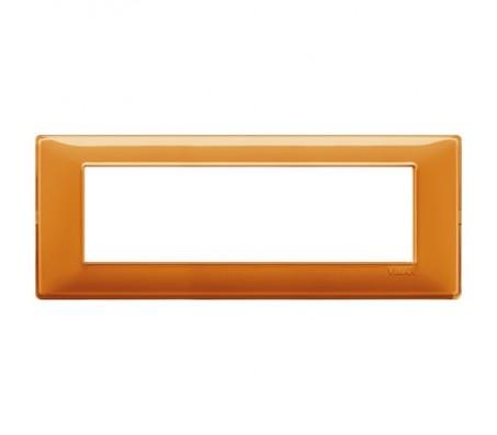 Vimar Plana Placca 7 moduli Reflex arancio