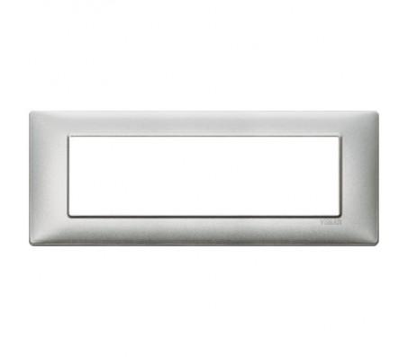Vimar Plana Placca 7 moduli argento metallizzato