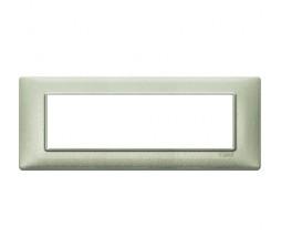 Vimar Plana Placca 7 moduli verde metallizzato