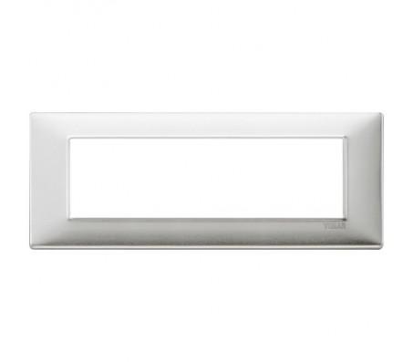Vimar Plana Placca 7 moduli alluminio spazzolato