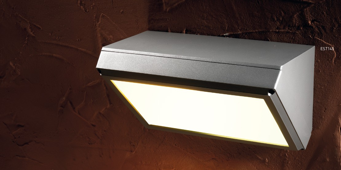 Lampade da parete per esterno angolare grenada - Illuminazione a led per esterno ...