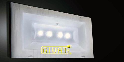 Batterie Per Lampade Di Emergenza Ova.Lampada Emergenza Estraibile Da Incasso